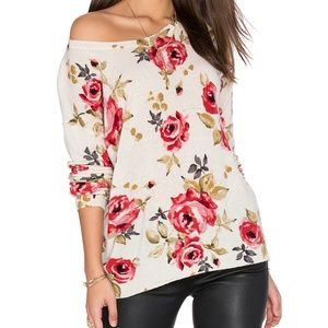 Joie Cashmere Gypsy Rose Print Sweater XS